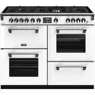 Save £405 at AO on Stoves Colour Boutique Collection Richmond Deluxe S1100G CB 110cm Gas Range Cooker with Electric Grill - Icy Brook - A/A/A Rated