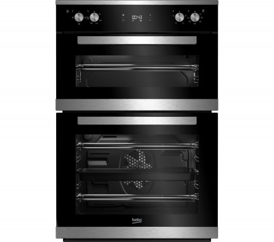 Save £70 at Currys on BEKO BXDF25300X Electric Double Oven - Stainless Steel, Stainless Steel