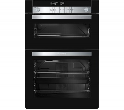 Save £100 at Currys on GRUNDIG GEDM47000B Electric Built-under Double Oven - Black, Black