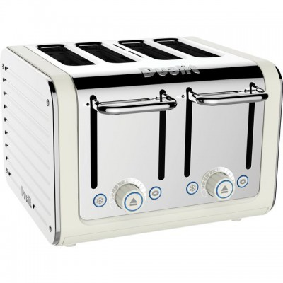Save £14 at AO on Dualit Architect 46523 4 Slice Toaster - Canvas White / Stainless Steel