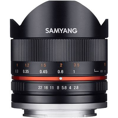 Save £70 at WEX Photo Video on Samyang 8mm f2.8 UMC II Fisheye Lens - Fujifilm Fit