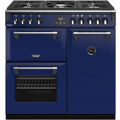 Save £570 at AO on Stoves Colour Boutique Collection Richmond Deluxe S900G CB 90cm Gas Range Cooker - Midnight Gaze - A/A/A Rated