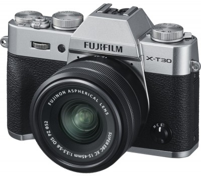 Save £200 at Currys on FUJIFILM X-T30 Mirrorless Camera with FUJINON XC 15-45 mm f/3.5-5.6 OIS PZ Lens - Silver, Silver