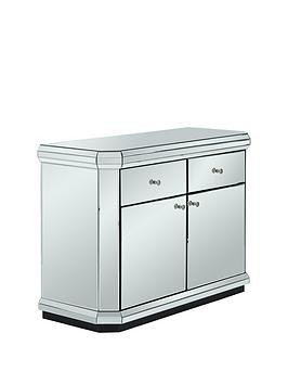 Save £70 at Very on Plinth Mirrored Ready Assembled Compact Sideboard