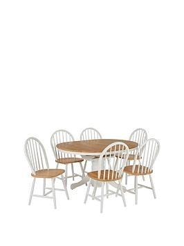 Save £50 at Very on New Kentucky 100 - 133 Cm Extending Dining Table + 6 Chairs