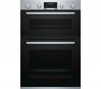 Save £100 at Currys on BOSCH Serie 6 MBA5350S0B Electric Double Oven - Stainless Steel, Stainless Steel