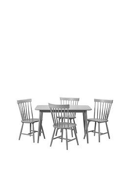 Save £50 at Very on Julian Bowen Torino 120 Cm Dining Table + 4 Chairs - Grey