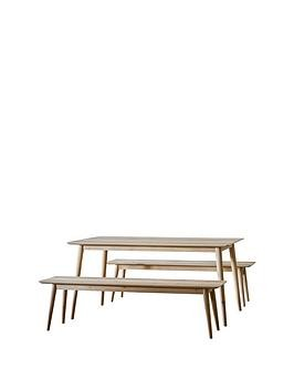 Save £200 at Very on Hudson Living Milano 160 Cm Dining Table + 2 Benches