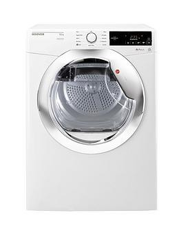 Save £40 at Very on Hoover Dynamic Next Dx10Tce 10Kg Load Aquavision Condenser Tumble Dryer With One Touch - White/Chrome