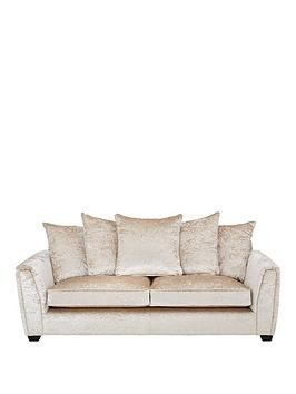 Save £460 at Very on Glitz Fabric 3 Seater Scatter Back Sofa - Champagne