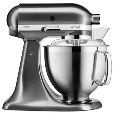 Save £100 at Appliance City on KitchenAid 5KSM185PSBNK 185 Artisan Stand Mixer 4.8 Litre - NICKEL