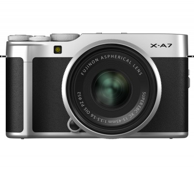 Save £200 at Currys on FUJIFILM X-A7 Mirrorless Camera with FUJINON XC 15-45 mm f/3.5-5.6 OIS PZ Lens - Silver, Silver