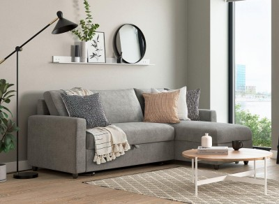 Save £100 at Dreams on Limerick 3 Seat Corner Sofa Bed - Misty GREY