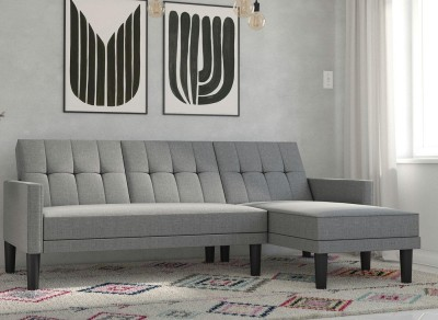 Save £150 at Dreams on Valentina 3 Seater Corner Sofa Bed - Light grey