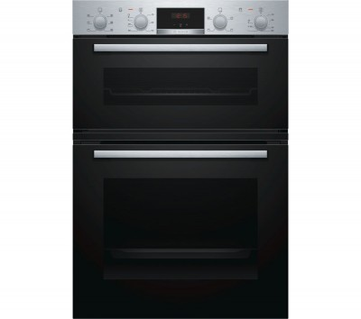 Save £100 at Currys on BOSCH MBS133BR0B Electric Double Oven - Stainless Steel, Stainless Steel