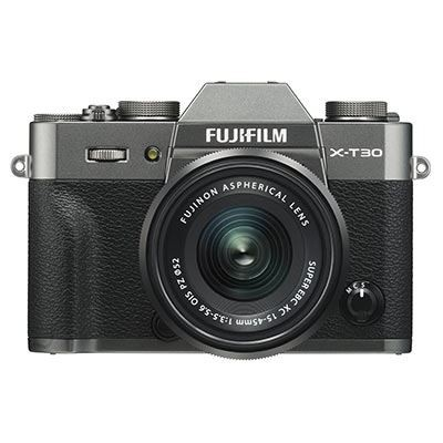 Save £183 at WEX Photo Video on Used Fujifilm X-T30 Digital Camera with XC 15-45mm Lens - Charcoal Grey