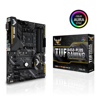 Save £16 at Scan on ASUS TUF AMD Ryzen B450 PLUS AM4 ATX GAMING Motherboard