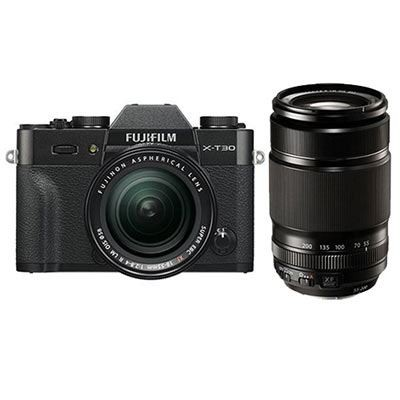 Save £400 at WEX Photo Video on Fujifilm X-T30 Digital Camera with XF 18-55mm + XF 55-200mm Lens - Black