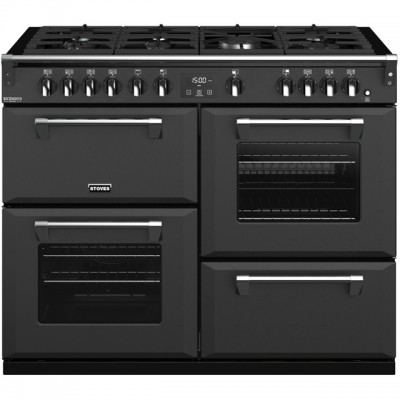 Save £300 at AO on Stoves Colour Boutique Collection Richmond Deluxe S1100G CB 110cm Gas Range Cooker with Electric Grill - Anthracite - A/A/A Rated