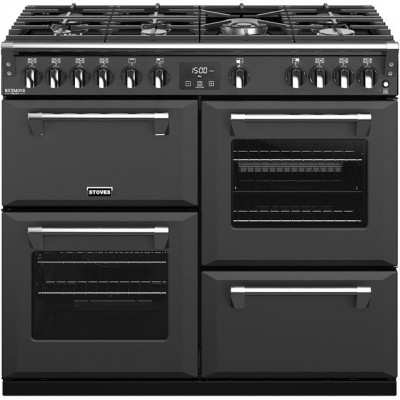 Save £310 at AO on Stoves Colour Boutique Collection Richmond Deluxe S1000G CB 100cm Gas Range Cooker with Electric Grill - Anthracite - A+/A/A Rated