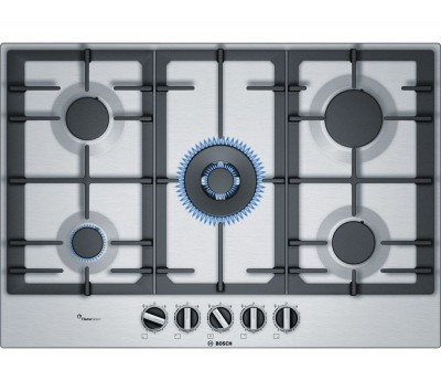 Save £80 at Currys on BOSCH PCQ7A5B90 Gas Hob - Stainless Steel, Stainless Steel