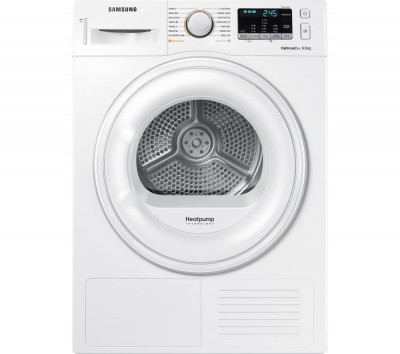 Save £100 at Currys on Samsung Tumble Dryer DV80M50101W/EU 8 kg Heat Pump - White, White