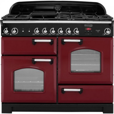 Save £622 at AO on Rangemaster Classic CLA110NGFCY/C 110cm Gas Range Cooker - Cranberry / Chrome - A+/A+ Rated