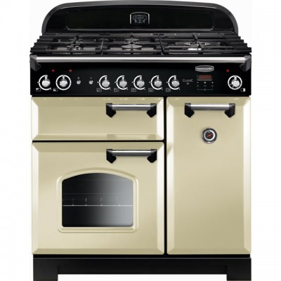 Save £199 at AO on Rangemaster Classic CLA90NGFCR/C 90cm Gas Range Cooker with Electric Fan Oven - Cream / Chrome - A+/A Rated