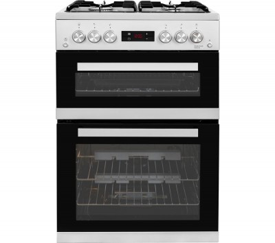 Save £61 at Currys on BEKO XDDF655S 60 cm Dual Fuel Cooker - Silver, Silver