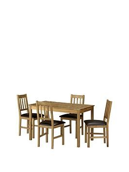 Save £50 at Very on Julian Bowen Coxmoor 118 Cm Solid Oak Dining Table + 4 Chairs