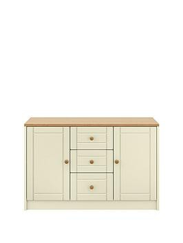 Save £30 at Very on Alderley Large Ready Assembled Sideboard - Cream/Oak Effect