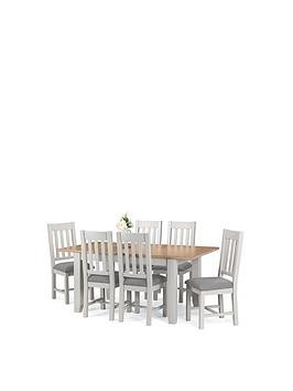 Save £100 at Very on Julian Bowen Richmond 140 - 180 Cm Extending Solid Wood And Veneer Dining Table + 6 Chairs