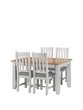 Save £100 at Very on Julian Bowen Richmond 140 - 180 Cm Extending Solid Wood And Veneer Dining Table + 4 Chairs