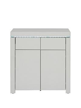 Save £30 at Very on Atlantic High Gloss Compact Sideboard - Grey