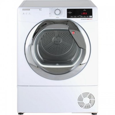 Save £50 at AO on Hoover Dynamic Next Advance DXC9TCG 9Kg Condenser Tumble Dryer - White / Chrome - B Rated