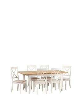 Save £80 at Very on Julian Bowen Davenport 150 - 189 Cm Extending Dining Table + 6 Chairs