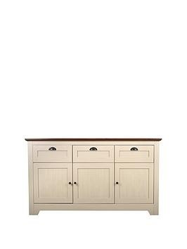 Save £30 at Very on Devon Large Sideboard - Ivory/Walnut Effect