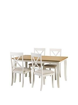 Save £50 at Very on Julian Bowen Davenport 150Cm Dining Table And 4 Chairs