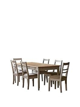 Save £200 at Very on Hudson Living Bronte 186 - 236 Cm Extending Dining Table And 6 Chairs - Taupe