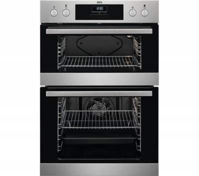 Save £60 at Currys on AEG DEB331010M Electric Double Oven - Stainless Steel, Stainless Steel