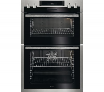 Save £90 at Currys on AEG DCS431110M Electric Double Oven - Stainless Steel, Stainless Steel