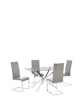 Save £100 at Very on Chopstick 130 Cm Dining Table + 4 Jet Chairs