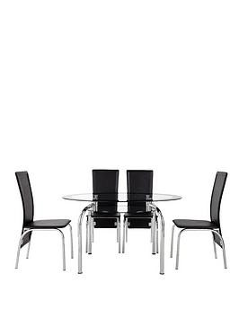 Save £210 at Very on Varezze 130Cm Glass Dining Table + 4 Chairs