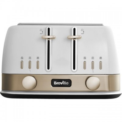 Save £13 at AO on Breville New York Collection VTT942 4 Slice Toaster - White / Gold