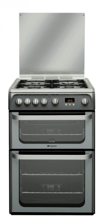 Save £60 at Argos on Hotpoint Ultima HUG61G 60cm Double Gas Cooker - Graphite