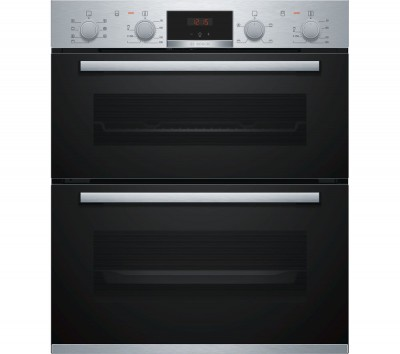 Save £105 at Currys on BOSCH Serie 4 NBS533BS0B Electric Built-under Double Oven - Stainless Steel, Stainless Steel