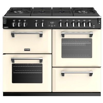 Save £200 at Appliance City on Stoves RICHMOND DX S1100DFGTGCC - EX DISPLAY 44920 Richmond 1100mm Gas On Glass Dual Fuel Range Cooker - CREAM