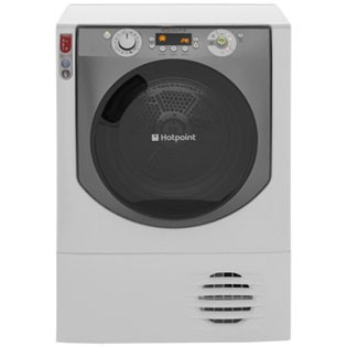 Save £42 at AO on Hotpoint Aqualtis AQC9BF7E1 9Kg Condenser Tumble Dryer - White / Tungsten - B Rated