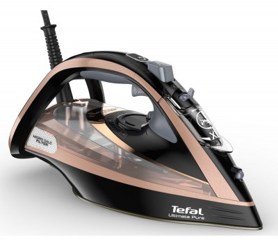 Save £50 at Currys on Ultimate Pure FV9845 Steam Iron - Black & Rose Gold, Black