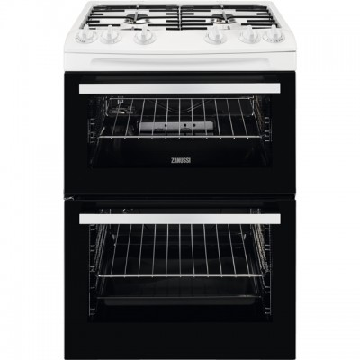 Save £100 at AO on Zanussi ZCG63050WA 60cm Gas Cooker with Full Width Electric Grill - White - A/A Rated